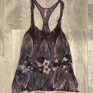[Free People] Purple Floral Tank Top - Size Small